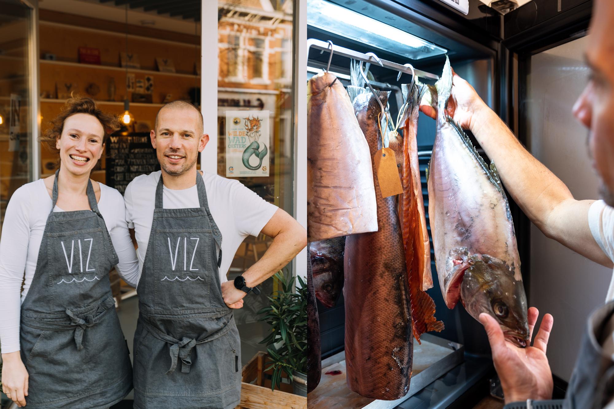 Dry-aged vis van VIZmarkt in Haarlem